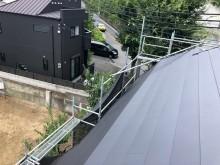 屋根カバー完成風景
