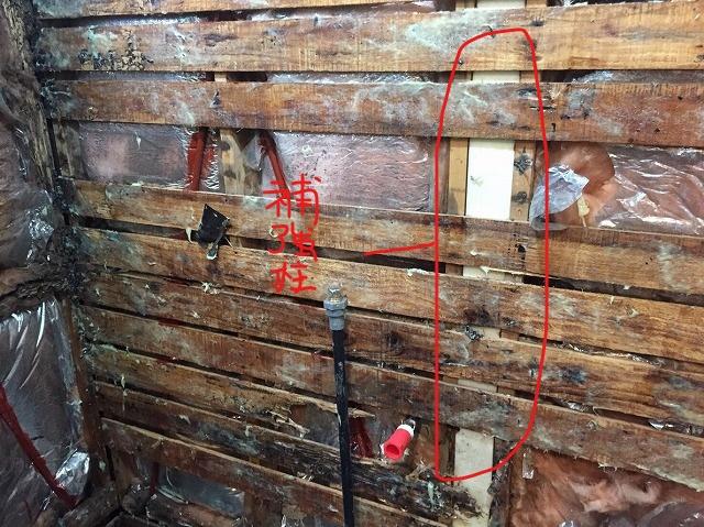 壁補強木柱