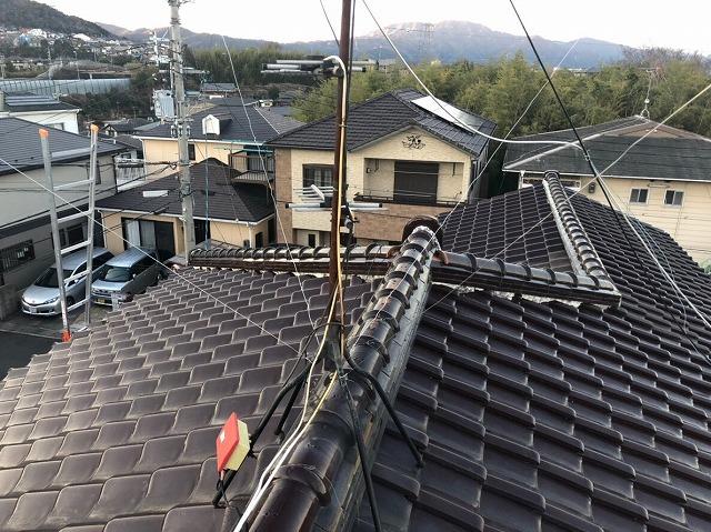 115㎡の広い屋根