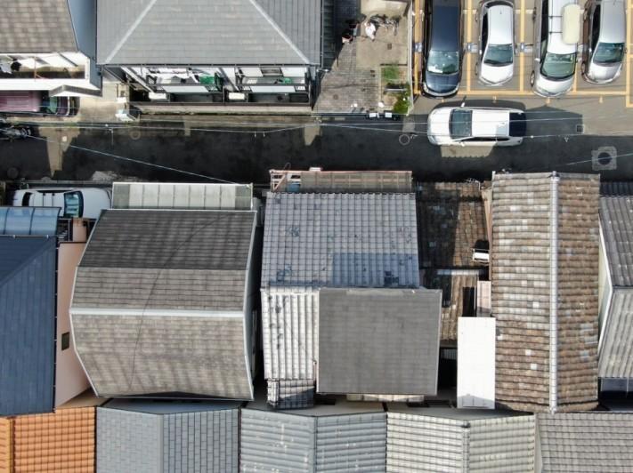 ドローンから見た周辺の屋根