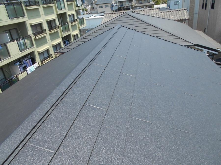 屋根葺き替え完了