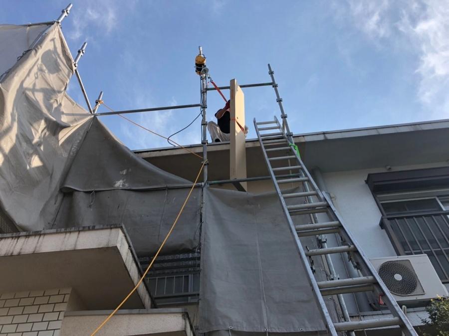 屋根材釣り上げ