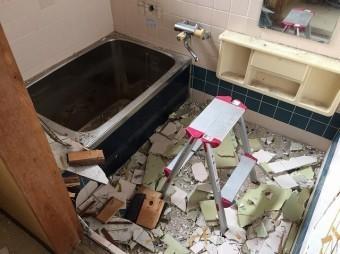 既存のお風呂解体