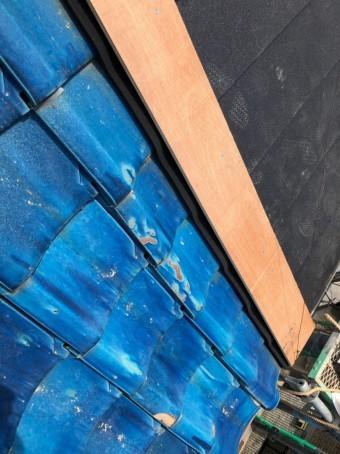 ケラバの板金下地板