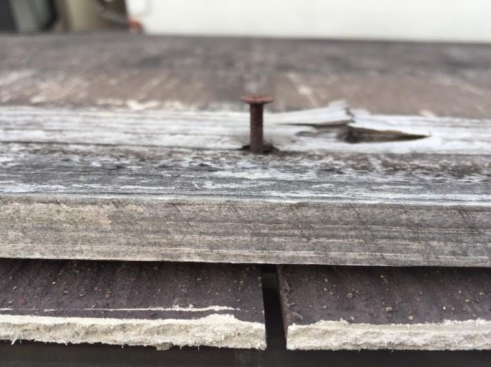 貫板釘劣化